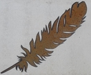 Kiwiana Garden Art LARGE FEATHER