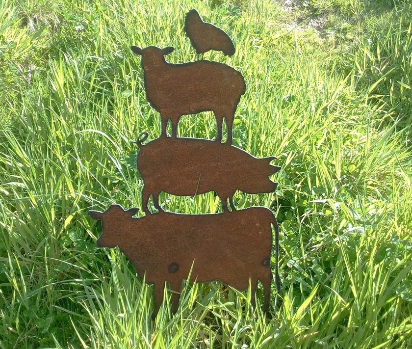 Kiwiana Garden Art ANIMAL STACK