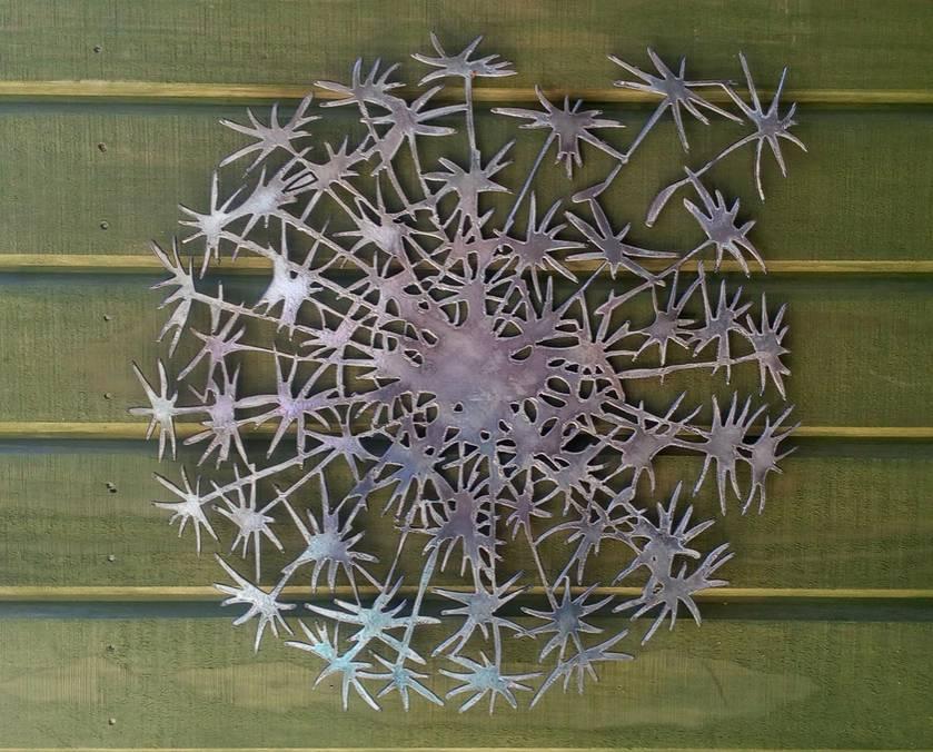 Kiwiana Garden Art DANDELION CLOCK