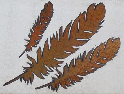 Kiwiana Garden Art SET OF FEATHERS