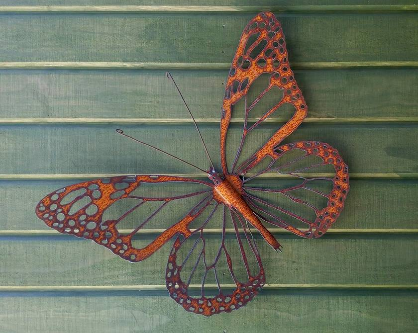 Kiwiana Garden Art MONARCH BUTTERFLY