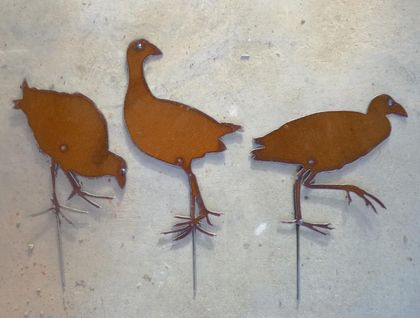 Kiwiana Garden Art SET OF PUKEKO