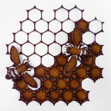 Ironweed HONEYCOMB WITH SMALL BEES