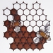 Ironweed HONEYCOMB WITH BEES - large