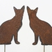 Ironweed PAIR OF SIAMESE CATS
