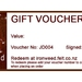 Ironweed GIFT VOUCHER