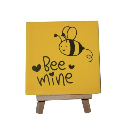 Be Mine Decorative Tile with stand