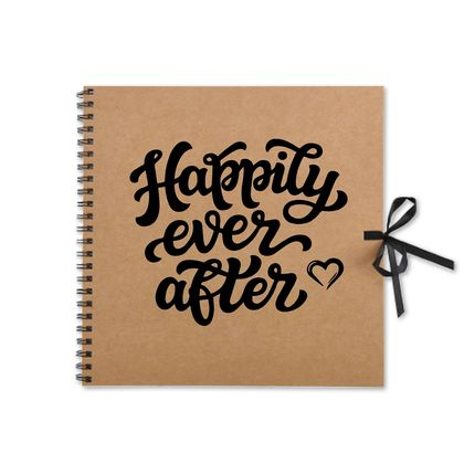 Rustic Happily Ever After Kraft Book
