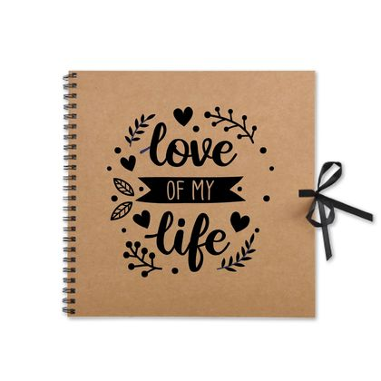 Rustic Love of my Life Kraft Book