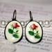 Antique Rose Oval Earings