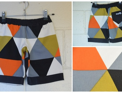 *asQ* Design ~ Funky Hard Wearing Geo Shorts, Available in sizes 1 ~ 5!!