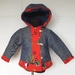 Nautical Padded Winter Jacket in Red and Denim Blue ~ SIZE 1