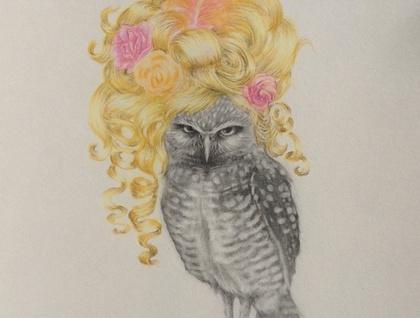 """Owl kill you!"" Archival digital print"