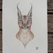 Geometrical Caracal Cat print