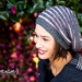 Textured Stripe Sloucher Hat - 5 Years to Adult