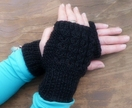 Patterned Fingerless Gloves (Your Choice of Colour)