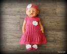 Dolls Clothes - Bright Pink & White Daisy (to fit 18 inch)