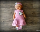 Dolls Clothes - Pink & White Rose Buds (to fit 18 inch)
