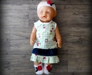 Dolls Clothes - Green & White with Cherries on Top (to fit 18 inch)