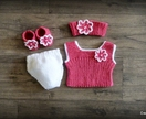 Dolls Clothes - Pink & White Daisy (to fit 18 inch)