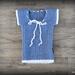 Merino Stretch Ribbed Singlet (Blue/White) – 0-3 Months