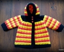Handknitted Hoodie (Waikato Colours) - 0-6 Months