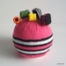Licorice Allsorts Hat (Your Choice of Colour)