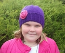 Mock Cable Rose Hat (Your Choice of Colours)