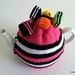Licorice Allsorts Tea Cosy - Pink (Medium)
