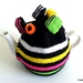 Licorice Allsorts Tea Cosy - Black (Medium)