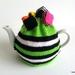 Licorice Allsorts Tea Cosy - Green (Medium)