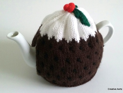 Christmas Pudding Tea Cosy (Medium)