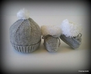 Fluff Hat & Bootie Set (Your Choice of Colours)