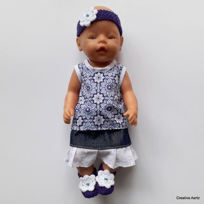 Purple and Turquoise Set for 18 inch Doll