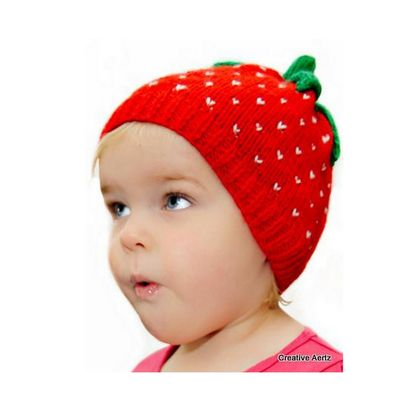 Deliciously Sweet Strawberry Hat - 1-2 Years