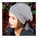 Basketweave Sloucher Hat (Made to Order)
