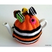 Licorice Allsorts Tea Cosy - Orange (Medium)