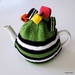 Licorice Allsorts Tea Cosy - Green (Medium)