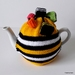 Licorice Allsorts Tea Cosy - Yellow (Medium)