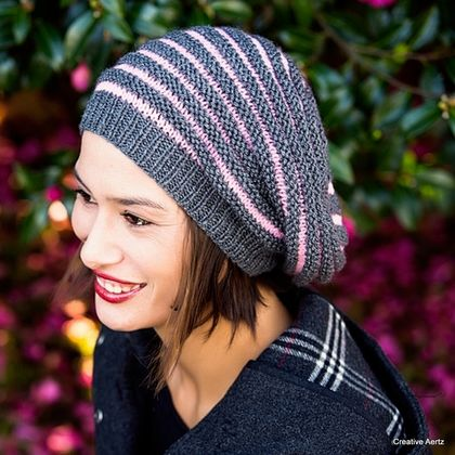 Textured Stripe Sloucher Hat (Made to Order)