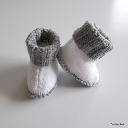 Knitted Ugg Booties (Made to Order)