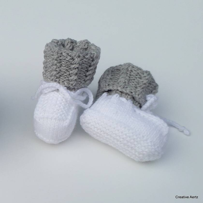Knitted Cable Booties (Made to Order)