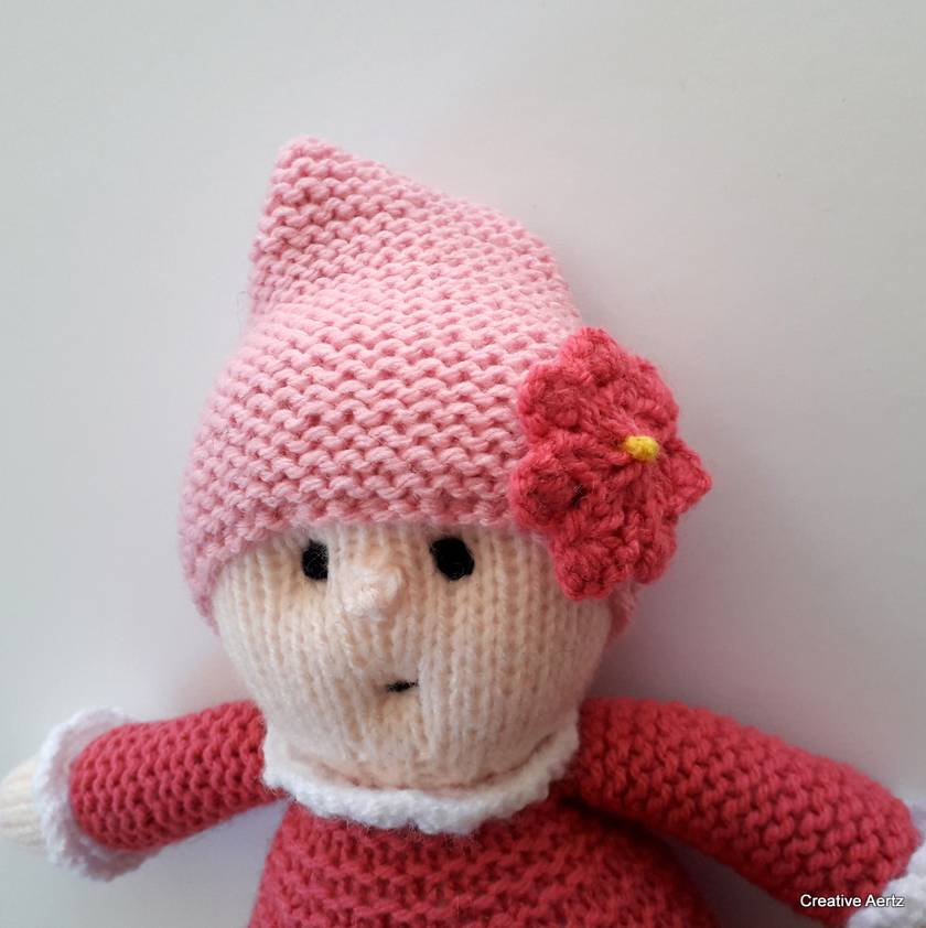 Pink Hand Knitted Doll