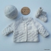 Hand Knitted Off-White 100% Wool Layette/Set (NB/0-3 Months)