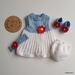 Blue, White and Pink Daisy Set for 18 inch Doll