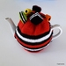 Licorice Allsorts Tea Cosy - Red (Medium)