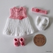 Pink and White and Rose Set for 18 inch Doll