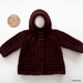 Hand Knitted Hoodie - Maroon (6-12 Months)
