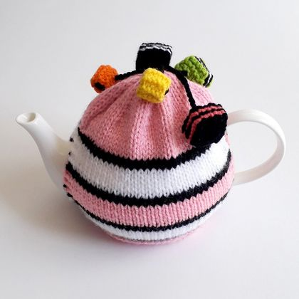 Licorice Allsorts Tea Cosy - Light Pink (Small)