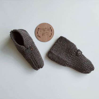 Men's Chunky Knit Slippers - Size 10-12